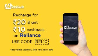 Mobikwik: Reliance User! Get Recharging now with 50% Cashback
