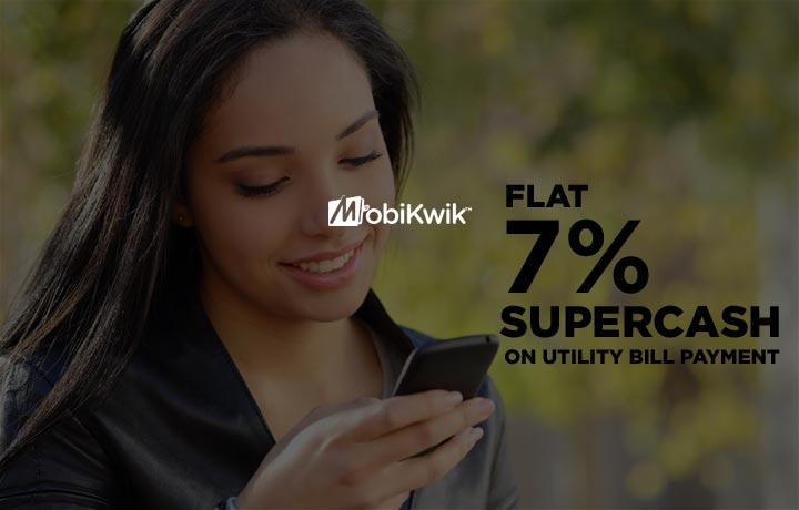 Get Flat 7% SuperCash on Electricity, Gas & Utility Bill