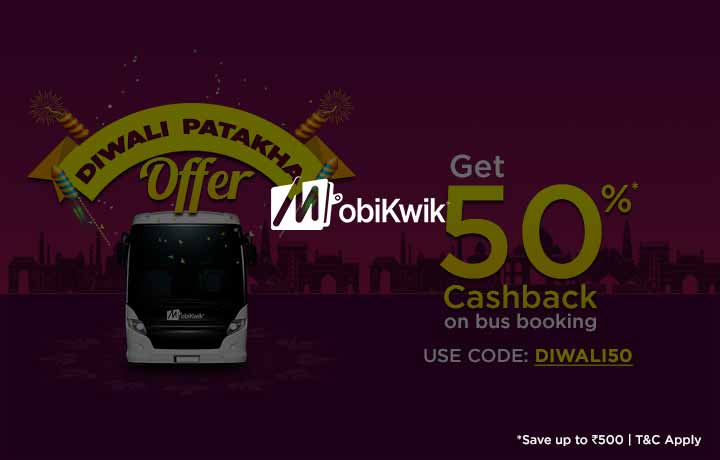 Mobikwik: Get 50% cashback on Bus Booking! (Starts 22 October)