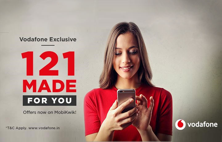 Vodafone Prepaid Offer 121 Made for You, Vodafone Recharge